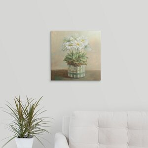 Tres Chic Daisies by Danhui Nai Graphic Art on Wrapped Canvas by Great Big Canvas