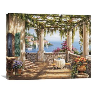 'Morning Terrace II' by Sung Kim Painting Print on Wrapped Canvas by Global Gallery