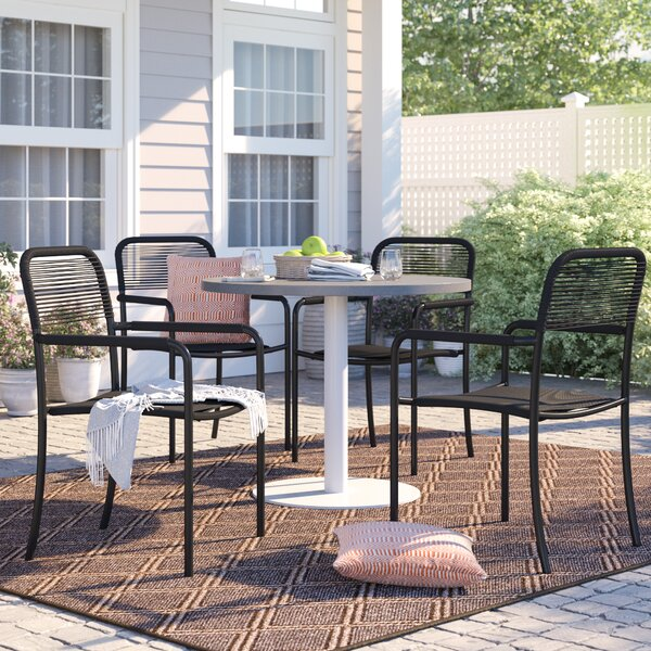 Brighton Stacking Patio Dining Chair (Set of 4) by Sol 72 Outdoor Sol 72 Outdoor