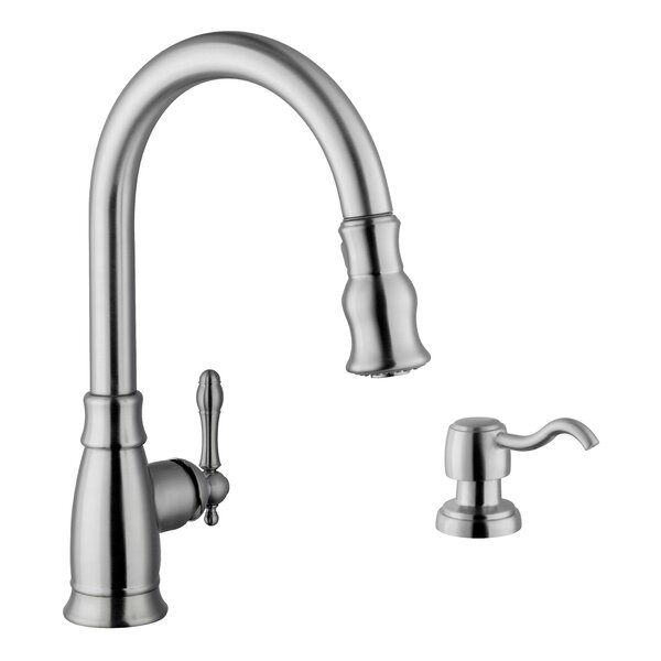 Pull Down Single Handle Kitchen Faucet by Soleil