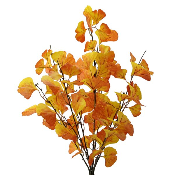 7 Stems Artificial Ginko Bush Desk Top Plant by Admired by Nature