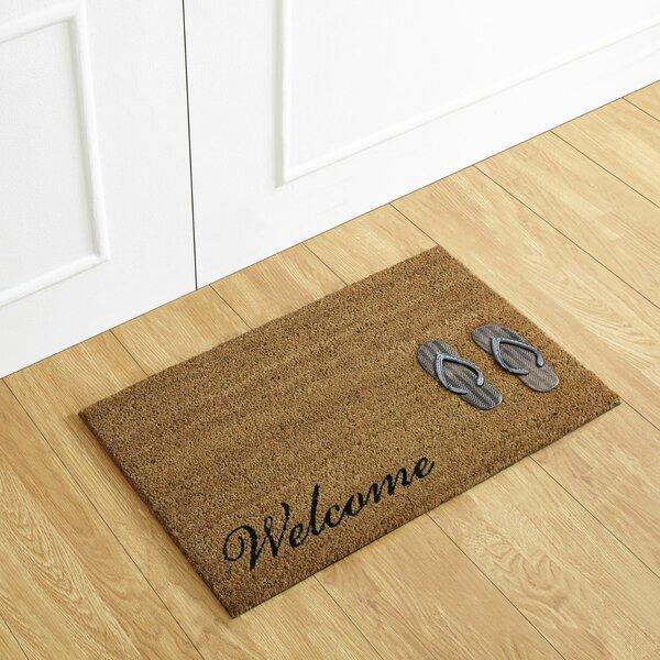 Flip Flop Welcome Coir Doormat by Better Trends