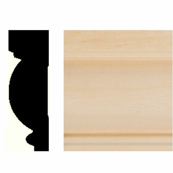 7/8 in. x 2-5/8 in. x 8 ft. Basswood Casing/Chair Rail Moulding by Manor House