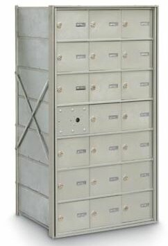 20 Door  Front Load 4B Horizontal Mail Center by Postal Products Unlimited, Inc.
