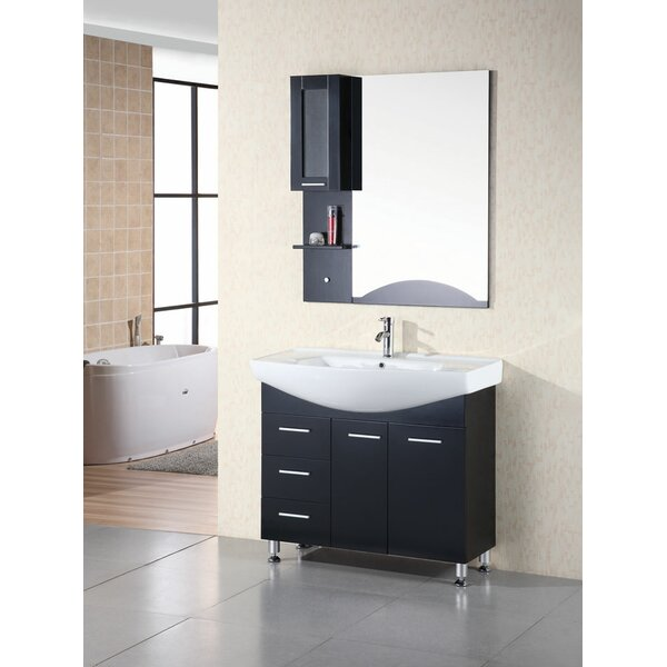 Dublin 40 Single Bathroom Vanity Set with Mirror by dCOR design