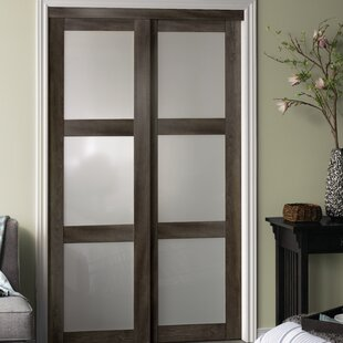 Baldarassario 3 Lite 2 Panel MDF Sliding Interior Door & Sliding Bypass Closet Doors | Wayfair