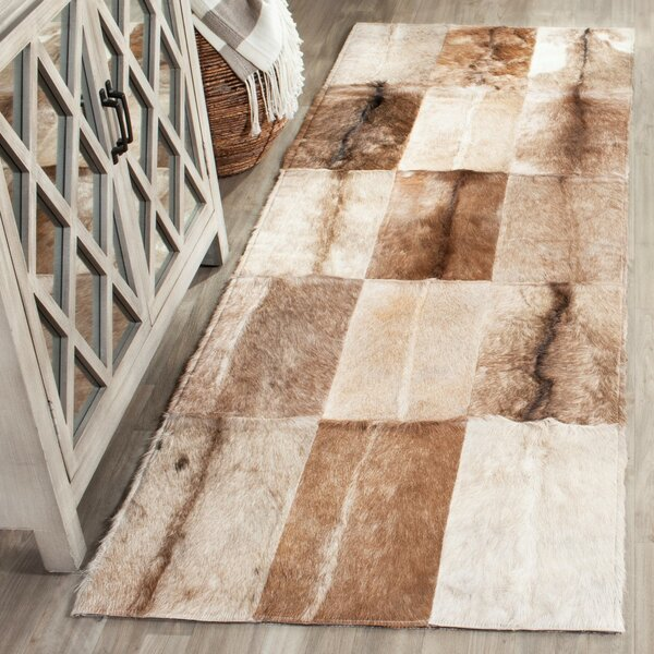 Sequoyah Hand-Woven Natural Cowhide Area Rug by Trent Austin Design