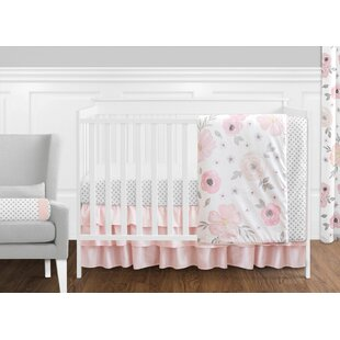 Savings Watercolor Floral 11 Piece Crib Bedding Set By Sweet Jojo Designs
