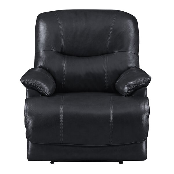 Kaul Leather Power Recliner Red Barrel Studio W000230548