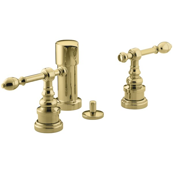 Iv Georges Brass Vertical Spray Bidet Faucet with Lever Handles by Kohler