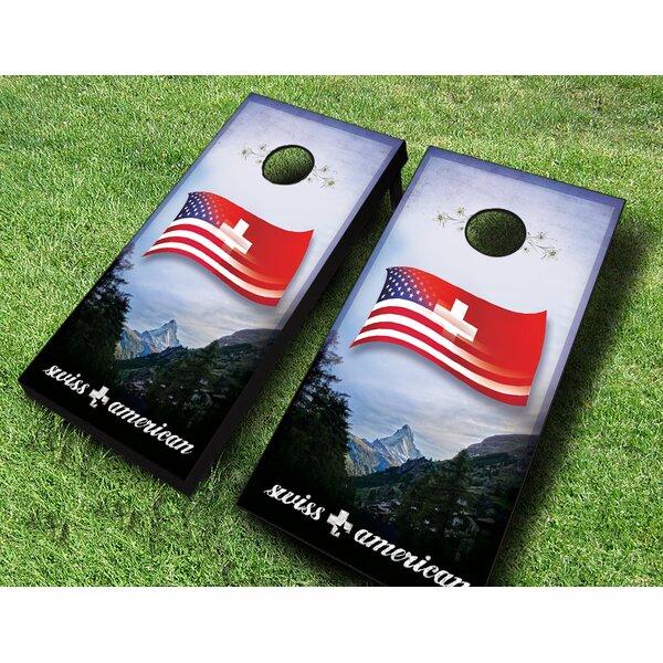 Swiss American Cornhole Set by AJJ Cornhole