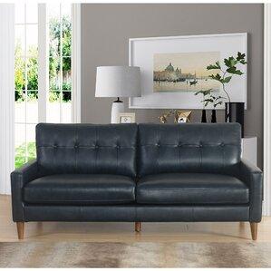 annalise wright midcentury leather sofa