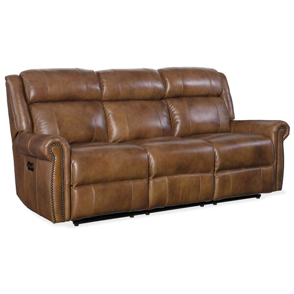 Esme Leather Reclining Sofa by Hooker Furniture