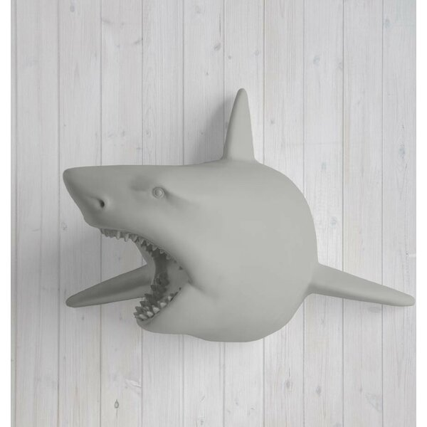 Pacific Faux Taxidermy Shark Head Wall Décor by Wall Charmers