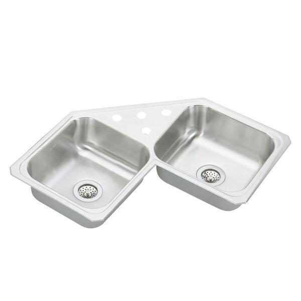 Gourmet 31.88 L x 31.88 W Top Mount Corner Kitchen Sink