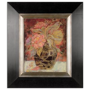 'Floral Bunda' Painting Print Shadow Box by Three Posts