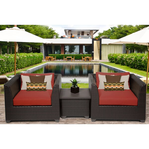 Tegan 3 Piece Seating Group with Cushion by Sol 72 Outdoor