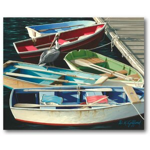 'Row Boat' Photographic Print on Wrapped Canvas by Highland Dunes