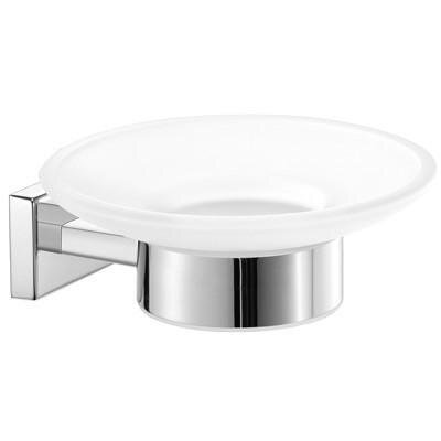 Skillman Wall Mounted Frosted Glass Soap Dish by Orren Ellis