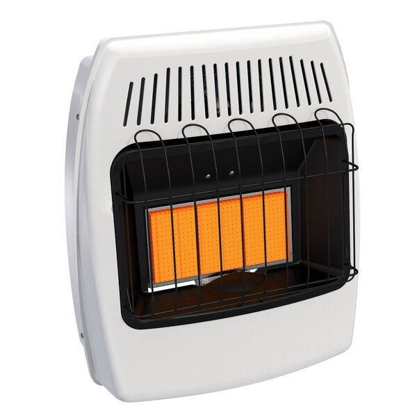 18,000 BTU Wall Mounted Single Fuel Manual Vent-Free Heater by Dyna-Glo