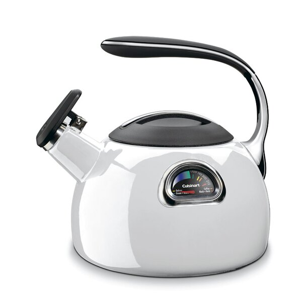 2 Qt. Perfect Temp Enameled Stove Tea Kettle by Cuisinart