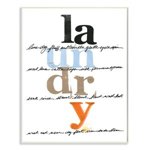 'White with Colors Laundry Directions' Textual Art on Canvas by Zipcode Design