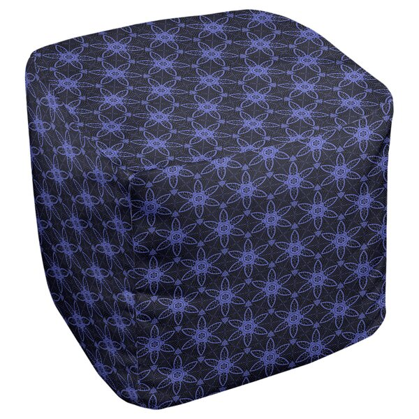 Leffel Ornate Circles Cube Ottoman by Ebern Designs