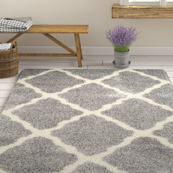 Macungie Geometric Gray Indoor Area Rug by Gracie Oaks