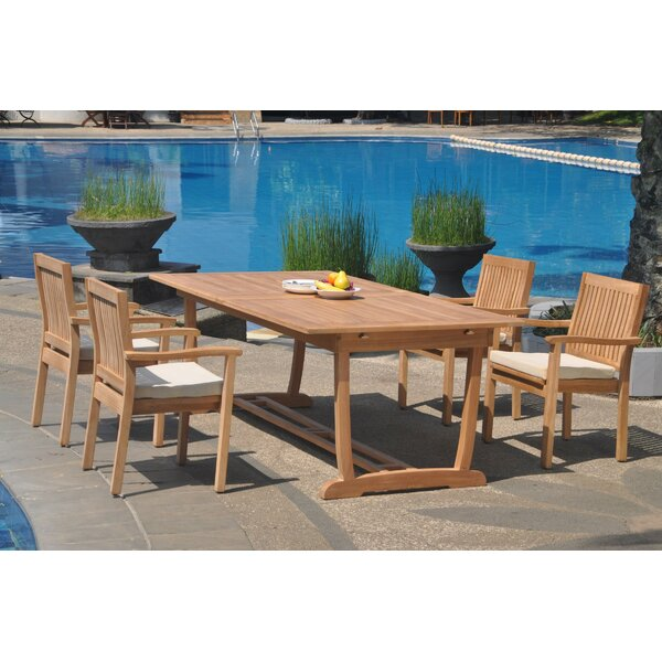 Kylan 5 Piece Teak Dining Set by Rosecliff Heights