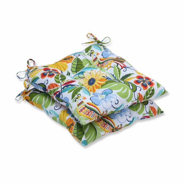 Guadaloue Fastene Indoor/Outdoor Dining Chair Cushion (Set of 2) by Bay Isle Home