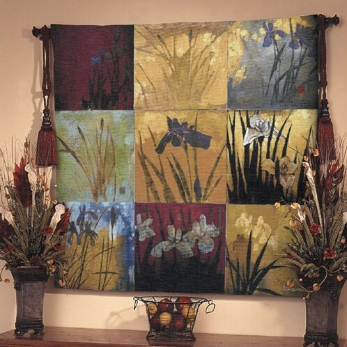 Floral Iris Nine Patch II Tapestry by Fine Art Tapestries