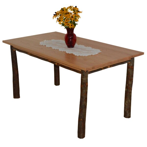 Wyton Hickory Solid Wood Dining Table by Loon Peak Loon Peak