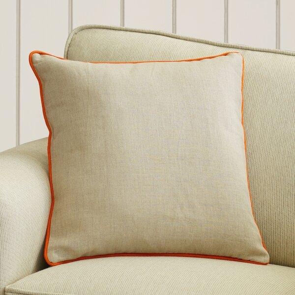 Franklin Linen Throw Pillow by Beachcrest Home