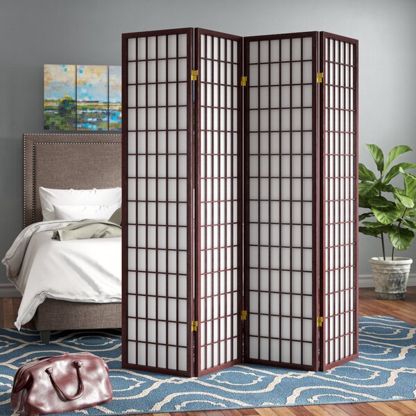Battle Creek 4 Panel Room Divider by Andover Mills