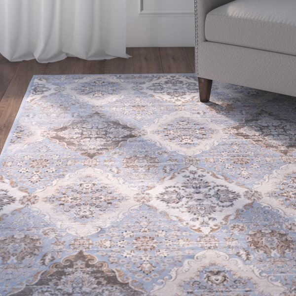 Barton Light Blue / Ivory Area Rug by Alcott Hill