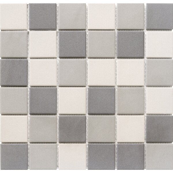 Zone Blend 2 x 2 Porcelain Mosaic Tile in Matte Dark by Emser Tile