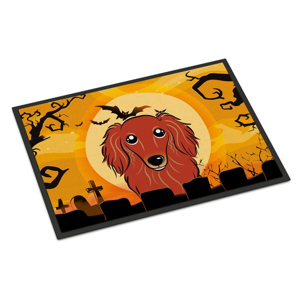 Halloween Longhair Dachshund Doormat by Caroline's Treasures