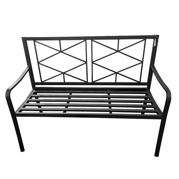 Rafferty Patio Steel Garden Bench By Wrought Studio by Wrought Studio Design