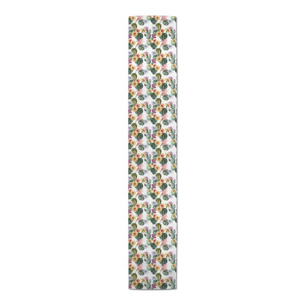 Flatiron Colorful Watercolor Cacti Table Runner by Bungalow Rose