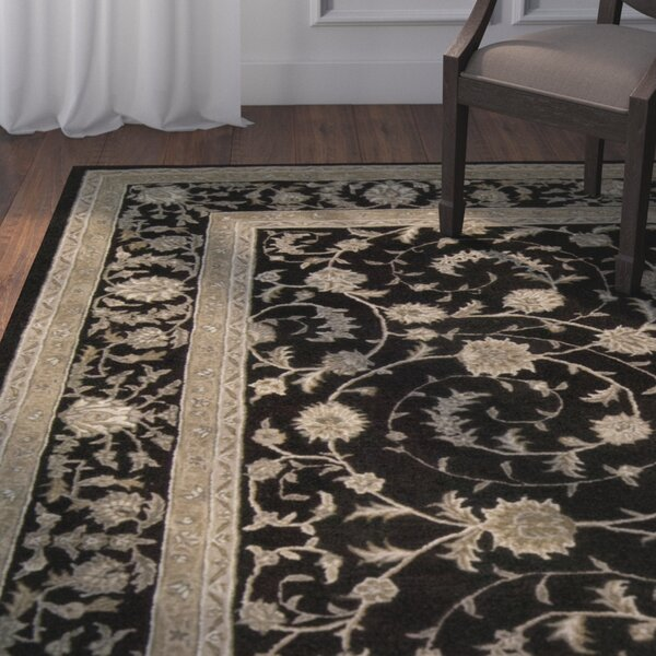 Lundeen Black Area Rug by Astoria Grand