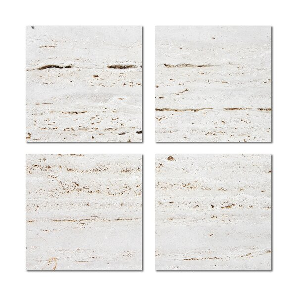 6 x 6 Beveled Glass Field Tile in Off-White by Upscale Designs by EMA
