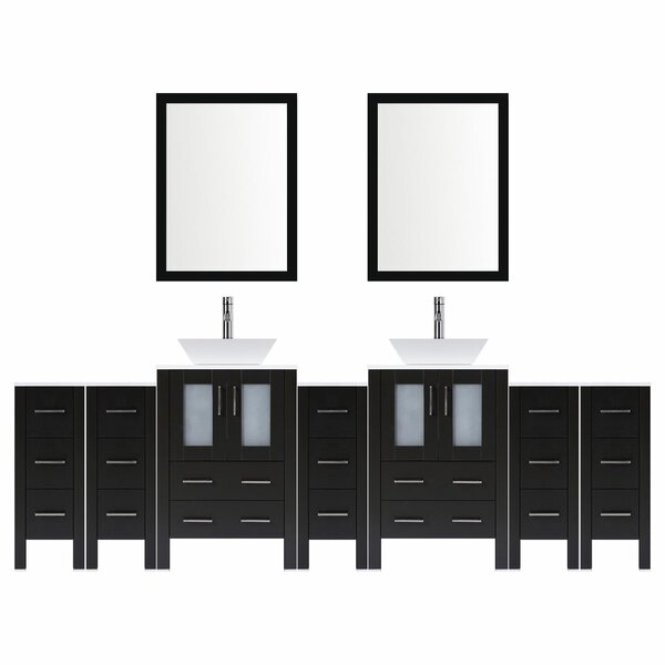 Modern 106 Double Bathroom Vanity Set with Mirror