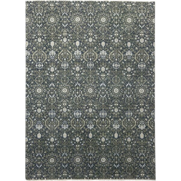 One-of-a-Kind Cote Hand-Knotted Wool/Silk Green/Gray Indoor Area Rug by Astoria Grand