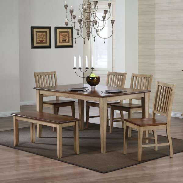 #1 Huerfano Valley Solid Wood Dining Table By Loon Peak Great Reviews
