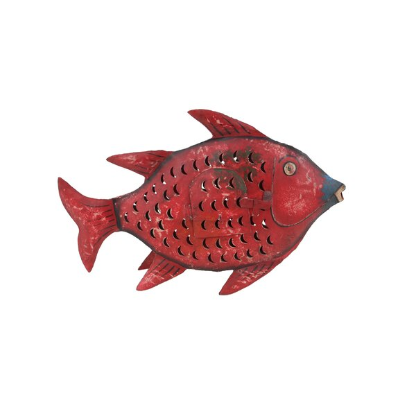 Millwright Eclectic Distressed Fish Metal Figurine by Bay Isle Home