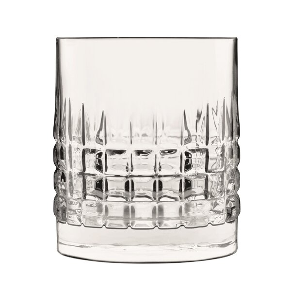 Mixology Charme Double Old Fashioned 12 oz. Glass Cocktail Glasses (Set of 4) by Luigi Bormioli