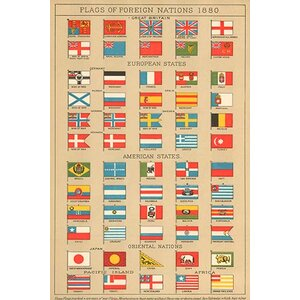 'Flags of Foreign Nations 1880' Graphic Art by Darby Home Co