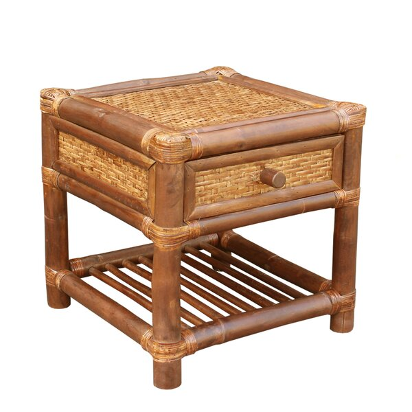 Bamboo Wood  End Table by ZEW Inc