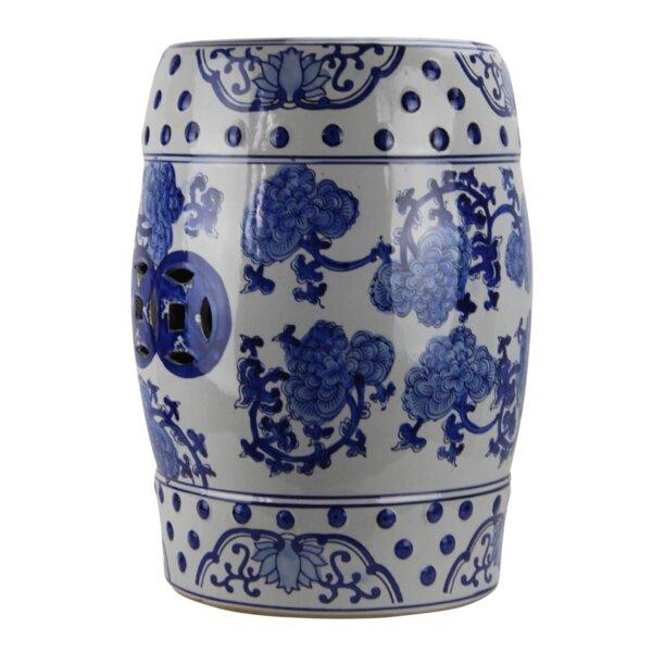 Maner Modern Contemporary Floral Porcelain Garden Stool by World Menagerie