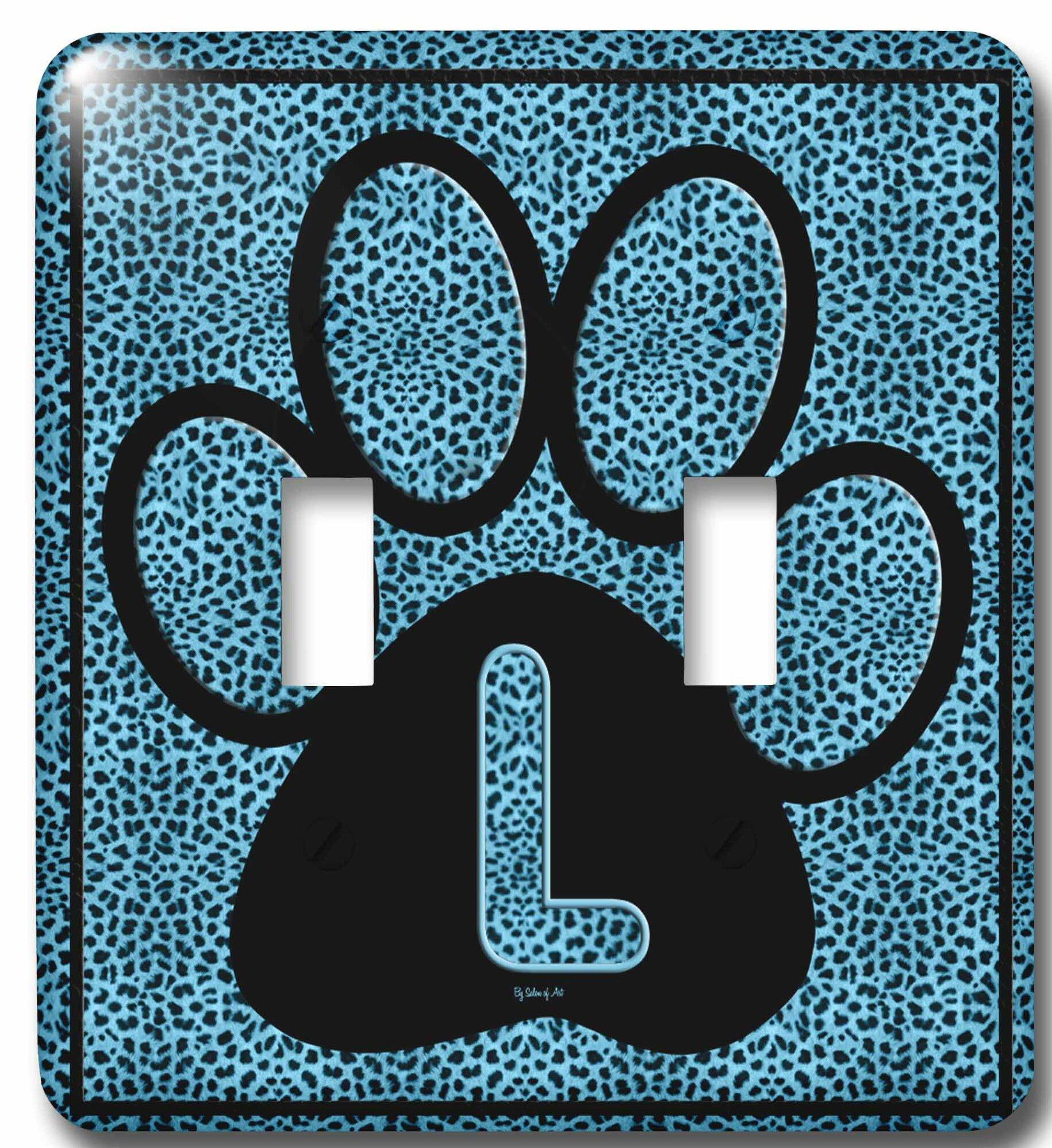 3drose Letter Cheetah Print Cat Paw 2 Gang Toggle Light Switch Wall Plate Wayfair